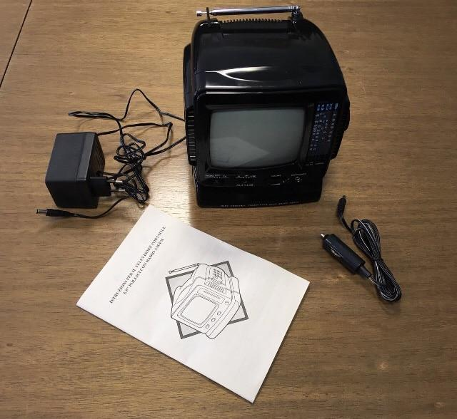 Mini personal television with am/fm radio vintage