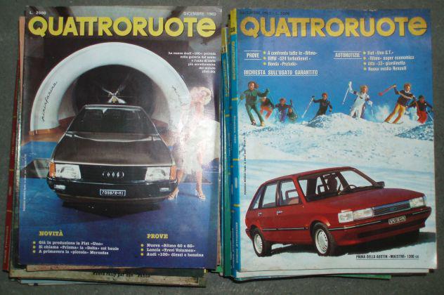 Quattroruote - 120 numeri delle annate dal 1979 al 1992