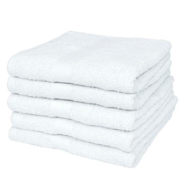 Vidaxl asciugamani cotone 100% set 50 pz 400 gsm 30x30 cm