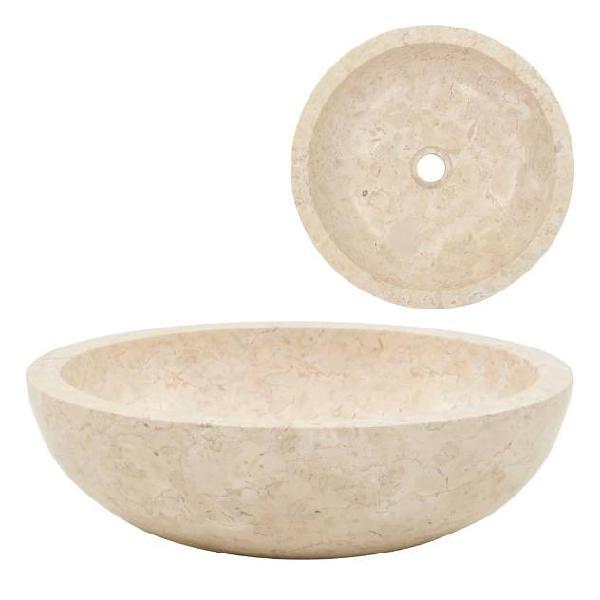 Vidaxl lavandino 40x12 cm in marmo crema