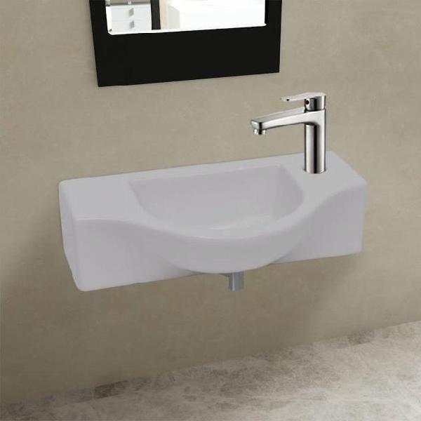 Vidaxl lavandino bagno in ceramica con foro di scarico