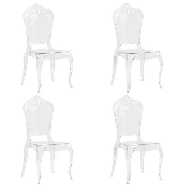 Vidaxl sedie da pranzo 4 pz bianche in policarbonato
