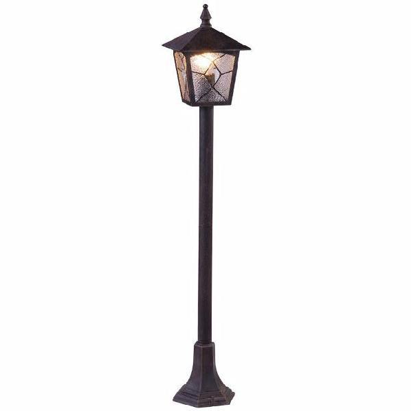 Globo lampada da pavimento da esterno atlanta alluminio nero