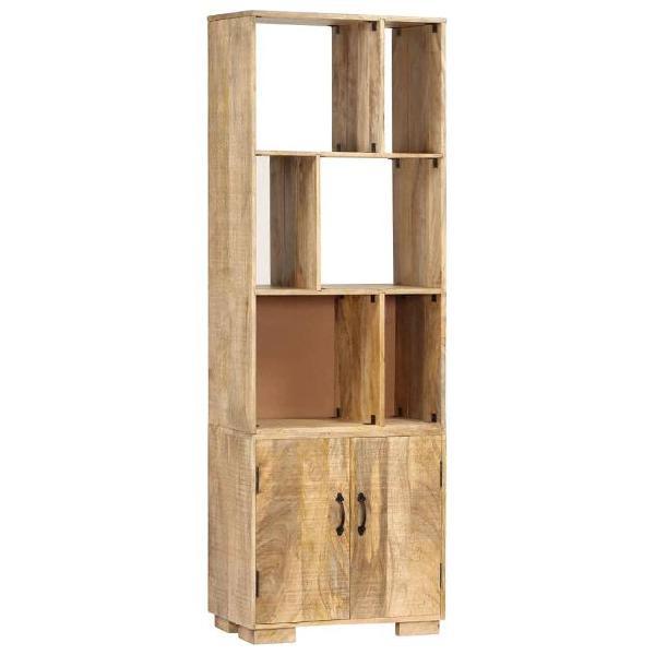 Vidaxl libreria 60x35x180 cm in legno massello di mango