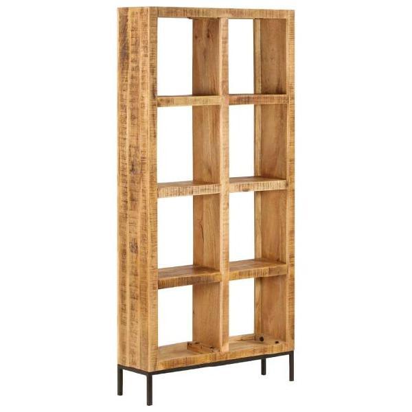 Vidaxl libreria 80x25x175 cm in legno massello di mango