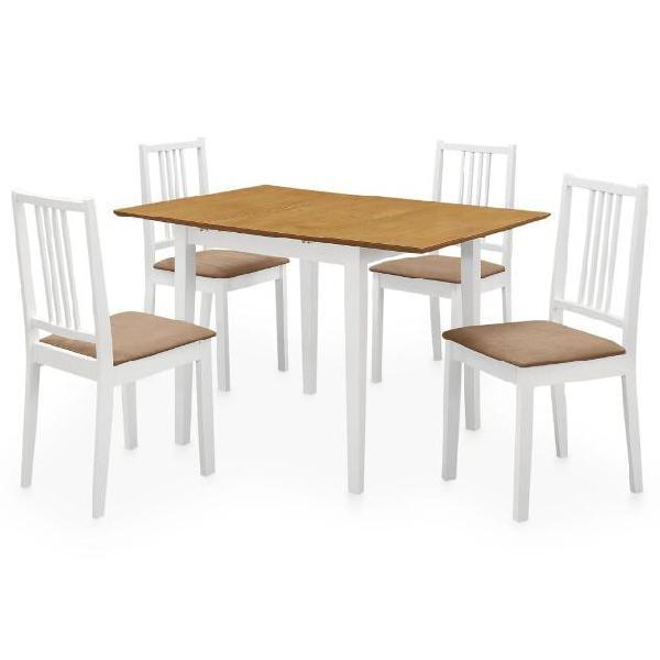 Vidaxl set per sala da pranzo 5 pz in mdf bianco