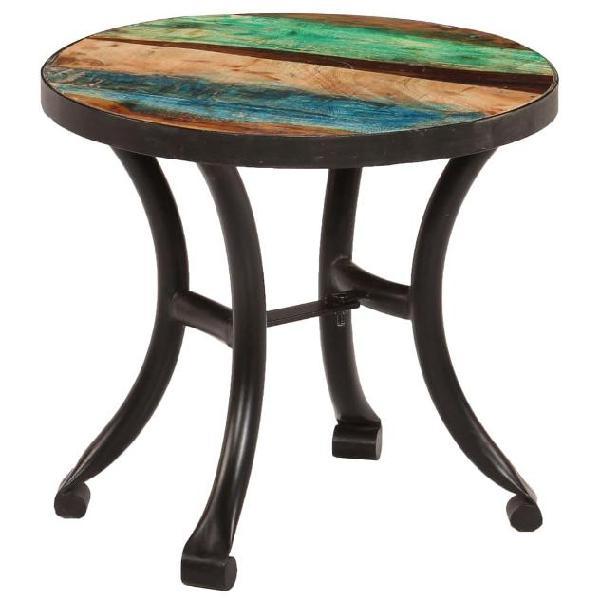 Vidaxl tavolino laterale in legno massello di recupero 40x35