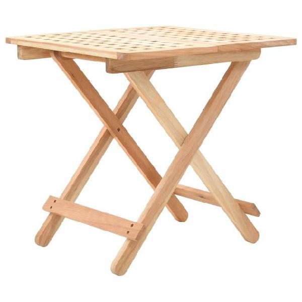 Vidaxl tavolo pieghevole in legno di noce 50x50x49 cm