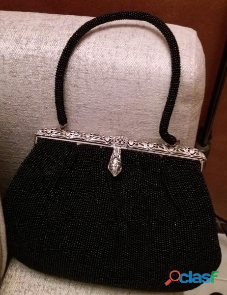 Antica borsetta dei primi del 900 liberty con perline