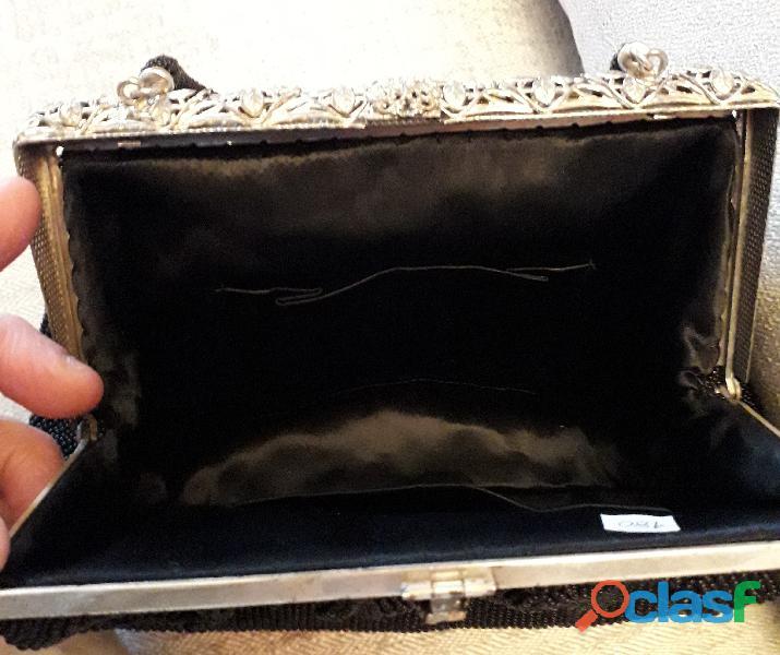 Antica borsetta dei primi del 900 Liberty con perline 2