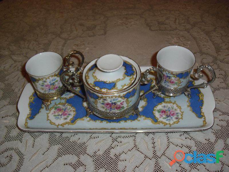 servizio caffe BAVARIA con vassoio e alzatine
