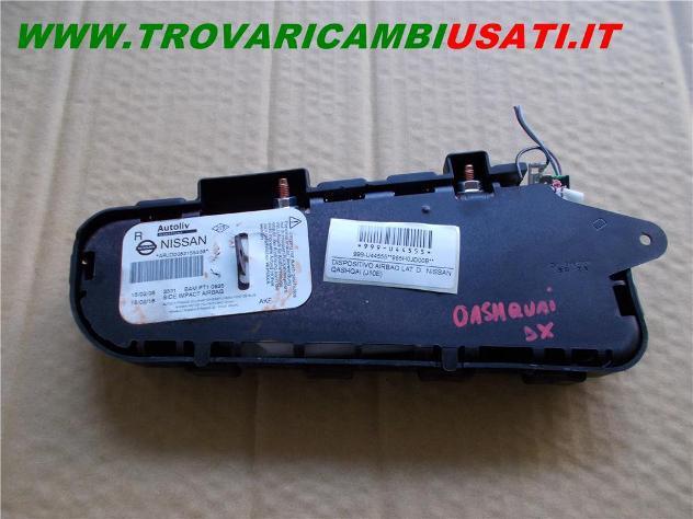 Dispositivo airbag lat. d. nissan qashqai (j10e) usato