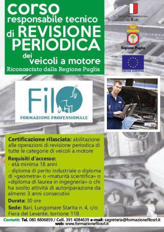 Corso responsabile tecnico revisione veicoli a motore