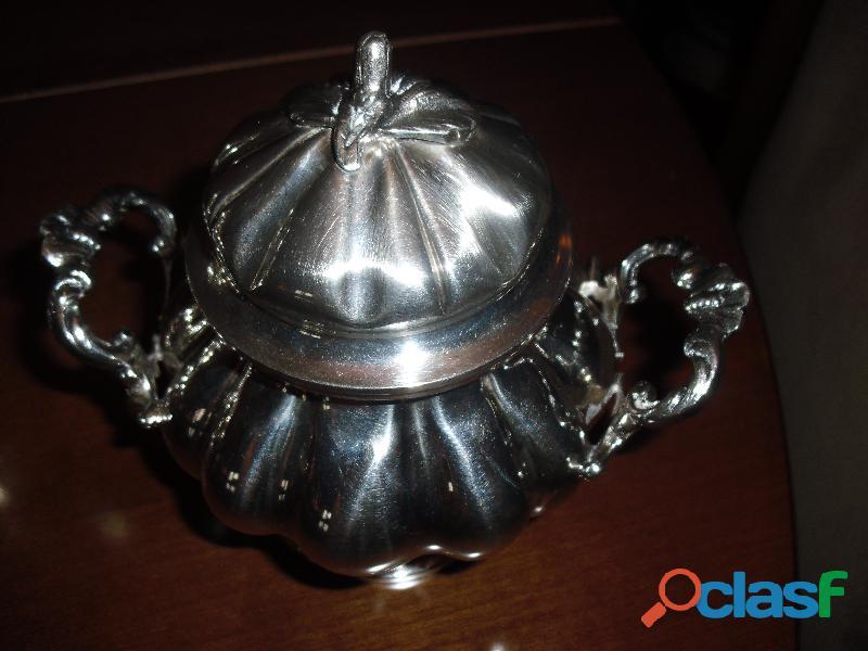 argento 800.servizio the caffe' stile barocco con vassoio 3