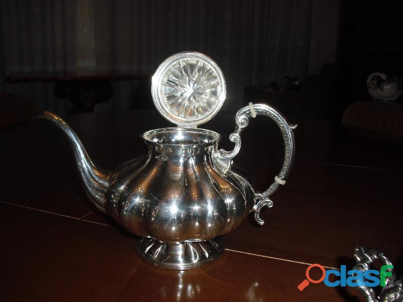 argento 800.servizio the caffe' stile barocco con vassoio 4