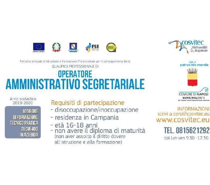 Corso annuale gratuito operatore per amministrativo segretar