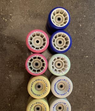 Set di ruote e cuscinetti per cemento e parquet
