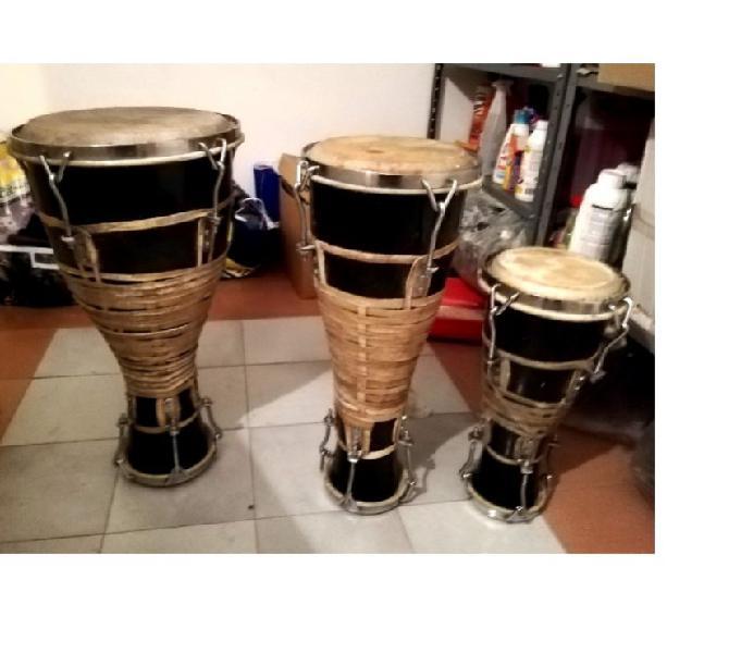 Batà 3 tamburi sacri cubani originali