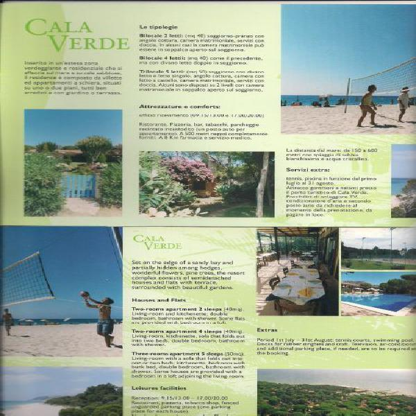 Calaverde villa fronte mare con giardino privato affitta