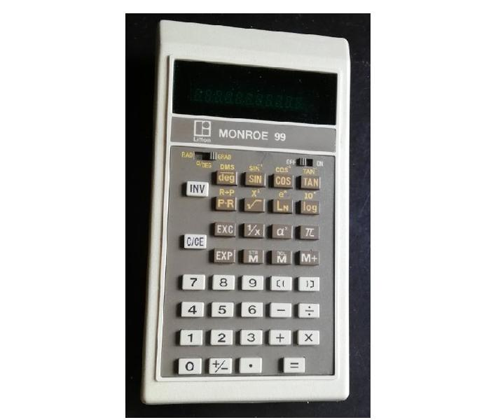 Calcolatrice scientifica vintage litton monroe 99