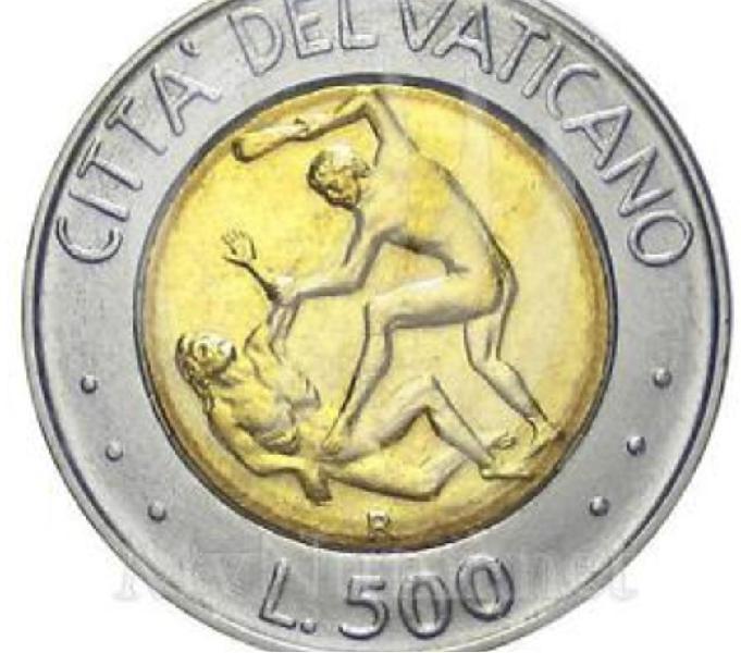 Moneta da 500 lire giovanni paolo ii del 1995