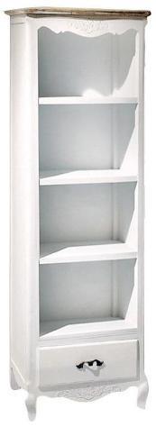 Mobile libreria 4 ripiani 1 cassetto in legno adami country