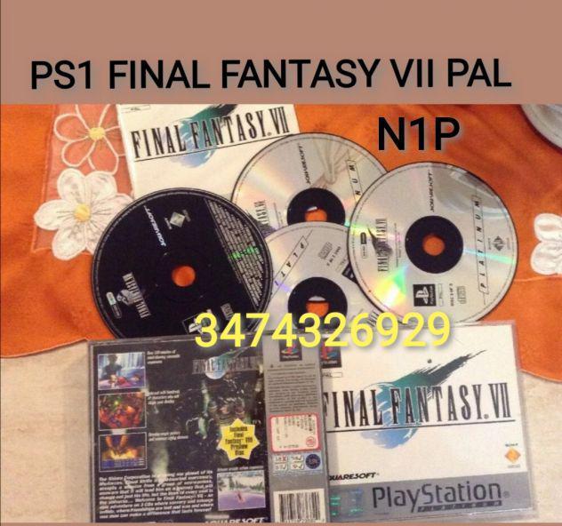 Ps1 final fantasy vii pal completo