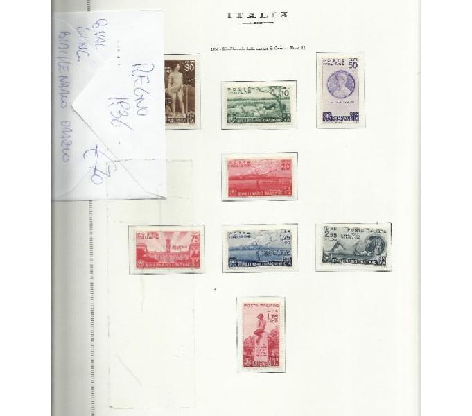 Regno e colonie francobolli
