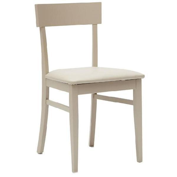 Sedia imbottita in legno seduta in ecopelle la seggiola new