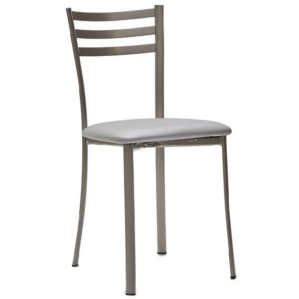 Sedia in metallo seduta in ecopelle la seggiola jody scay