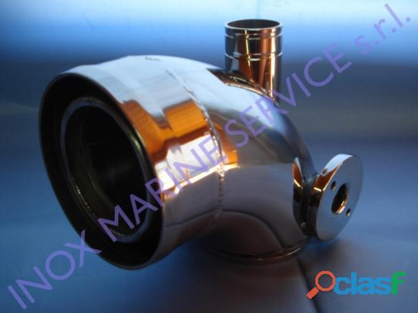 Riser in acciaio inox compatibile con motori volvo penta