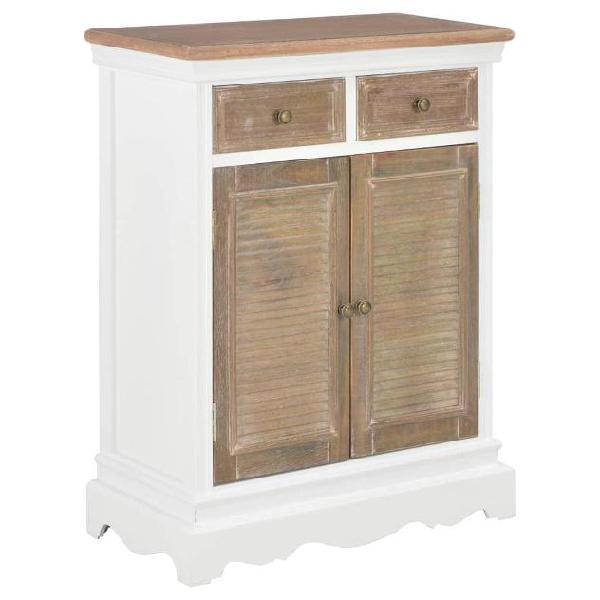 Vidaxl credenza bianca 60x30x80 cm in legno massello