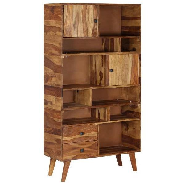 Vidaxl credenza in legno massello di sheesham 90x35x170 cm