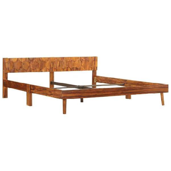 Vidaxl giroletto in legno massello di sheesham 180x200 cm