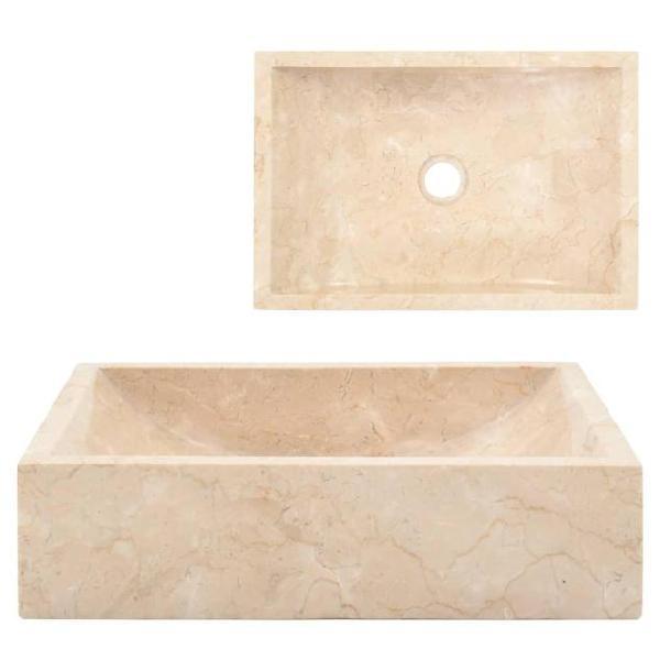 Vidaxl lavandino 45x30x12 cm in marmo crema