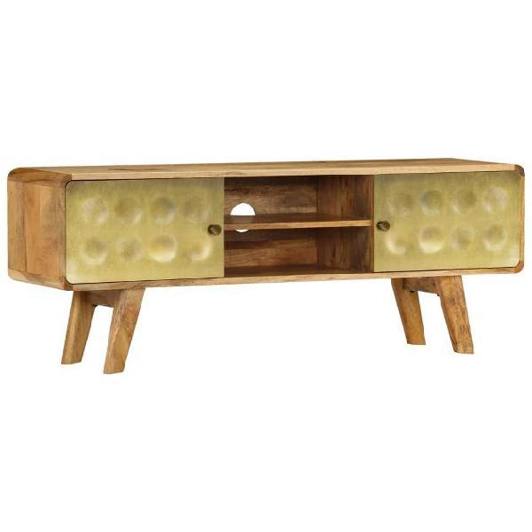 Vidaxl mobile porta tv in legno massello di mango 120x30x45