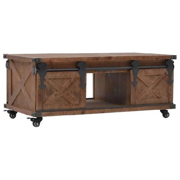 Vidaxl tavolino da caffè in legno massello di abete