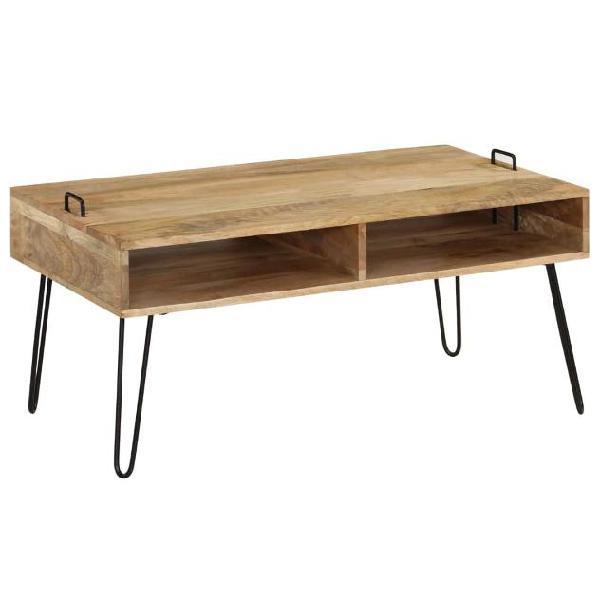Vidaxl tavolino da caffè in legno massello di mango