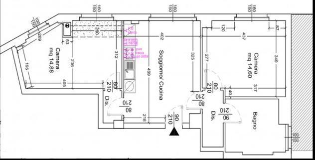 Appartamento di 90 m² con più di 5 locali in affitto a