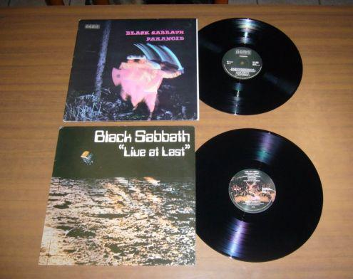 Black sabbath - lotto stock 2 lp 33 giri d 'epoca originali