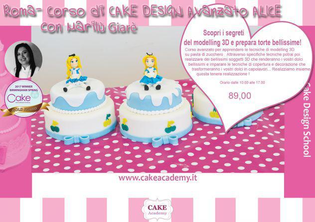 Corso di cake design modelling alice - cake academy roma