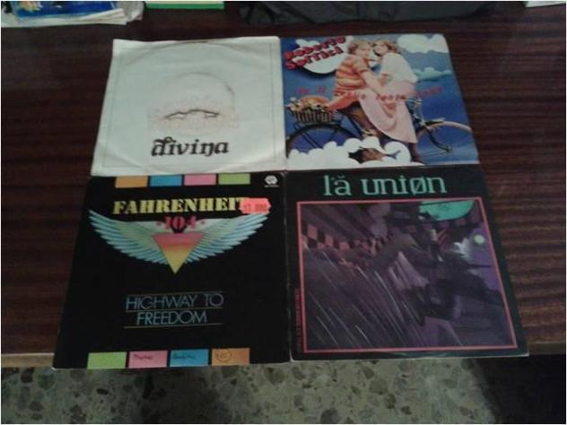Collezione di dischi in vinile anni 80