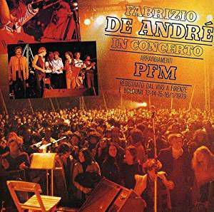 Fabrizio de andre' in concerto live 1979 con la pfm - 2 cd
