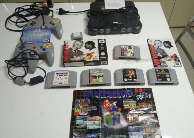 Nintendo 64 con 2 joypad 5 giochi e memory card