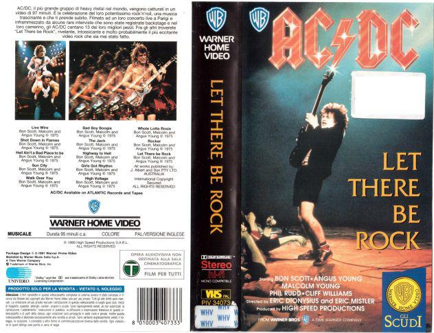 """Videocassetta ac/dc """"let there be rock"""""""