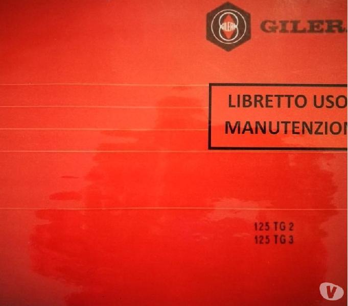 Libretto manuale gilera tg3-125