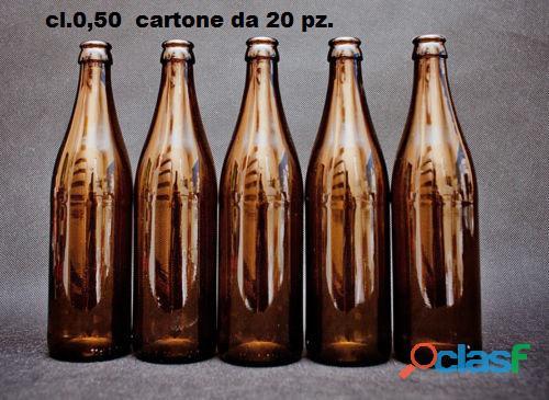 560 bottiglie cl.0,50 (28 cartoni) lavate senza etichette