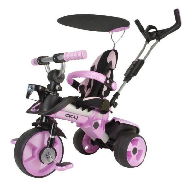 Injusa 3262 triciclo cavalcabile city rosa