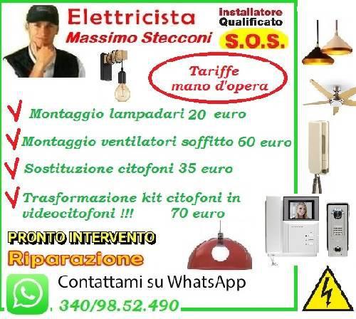 INSTALLAZIONE LAMPADARIO EUR GIULIANO DALMATA ROMA