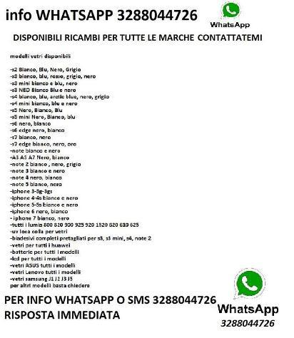 Lcd completi samsung s3 s4 s5 s6 iphone 4 5 6 lumi nuovo